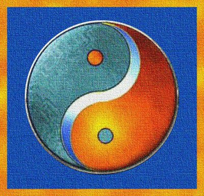 Simbolo YinYang colour ESCAPE='HTML'