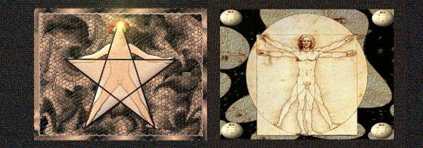 Uomo Vitruviano stella 5 punte ESCAPE='HTML'
